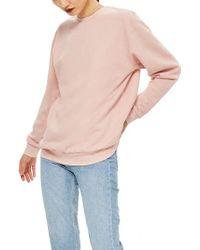 TOPSHOP - Longline Sweatshirt - Lyst
