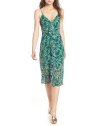 The Fifth Label - Viridian Ruffle Floral Print Dress - Lyst