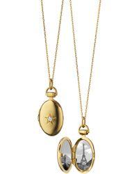 Monica Rich Kosann - Oval Gold Locket Necklace - Lyst
