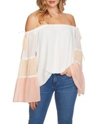 1.STATE - Tiered Off The Shoulder Top - Lyst
