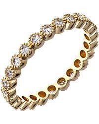 Sethi Couture - Bezel Set Diamond Stacking Ring - Lyst