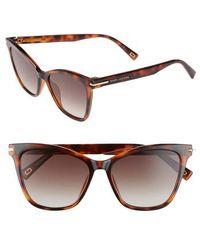 Marc Jacobs | 54mm Gradient Lens Sunglasses - Havanna Black | Lyst