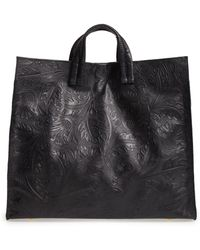 Clare V. - Simple Flower Embossed Leather Tote - - Lyst