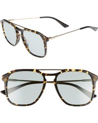 af326bb9c04 Lyst - Gucci Mens Light Havana Aviator Sunglasses in Brown for Men