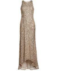 Adrianna Papell - Sequin High/low Gown - Lyst