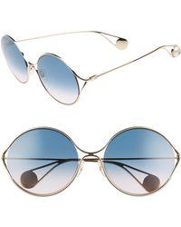11e20abaef8 Gucci - 58mm Gradient Lens Round Sunglasses - - Lyst