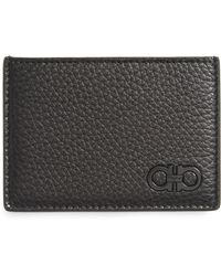Ferragamo - Calfskin Leather Card Case - Lyst