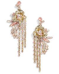 Givenchy - Flower Fringe Earrings - Lyst