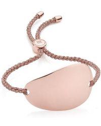 Monica Vinader - Engravable Large Nura Friendship Bracelet - Lyst