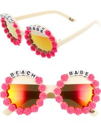 Rad & Refined - Beach Babe Round Sunglasses - - Lyst