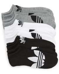 adidas Originals - 6-pack No-show Socks - Lyst