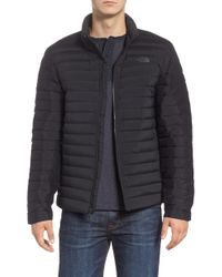 The North Face - Packable Stretch Down Hooded Jacket, Black - Lyst