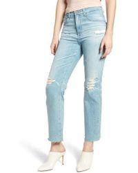 AG Jeans - The Rhett High Waist Crop Boyfriend Jeans - Lyst