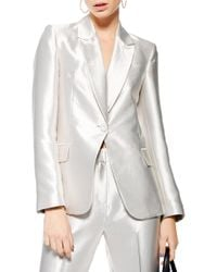 TOPSHOP - Satin Suit Jacket - Lyst