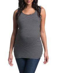 Bun Maternity - Stripe Maternity/nursing Tank Top - Lyst