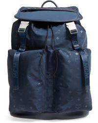 3c66b34315c Lyst - MCM Dieter Monogrammed Backpack in Blue for Men