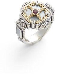 Konstantino - Sterling Silver & Ruby Ring - Lyst