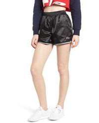 Fila - Serena Satin Track Shorts - Lyst