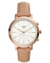 Fossil - Neely Leather Strap Hybrid Smart Watch - Lyst