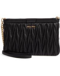 f8f8f393dd37 Chanel Lambskin Leather Patchwork Clutch Bag Gold/black in Metallic ...
