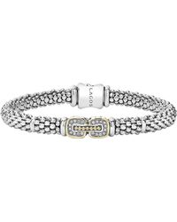 Lagos - Caviar Cushion Diamond Station Bracelet - Lyst