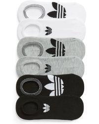 adidas - 6-pack Trefoil Superlite No-show Socks - Lyst