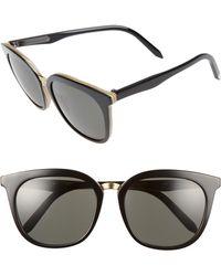 6a3805a612c Victoria Beckham - Combination Classic 56mm Sunglasses - Light Horn  Black  - Lyst