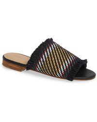 314030bac956 Lyst - Jimmy Choo Weave Studded Slide Sandals in Blue