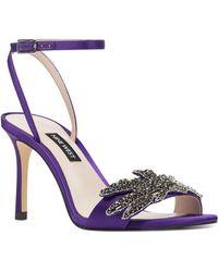 Nine West - Jamielee Embellished Ankle Strap Sandal - Lyst