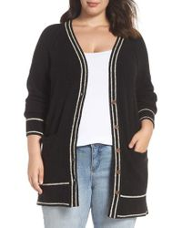 Lucky Brand - Plus Size Button Front Cardigan Sweater, - Lyst