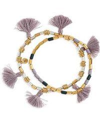 Madewell | Set Of 2 Beaded Tassel Bracelets | Lyst