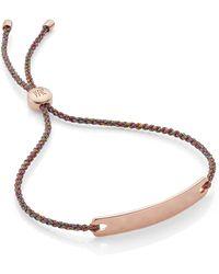Monica Vinader Engravable Havana Mini Friendship Bracelet