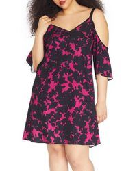 REBEL WILSON X ANGELS - Cold Shoulder Crepe Dress - Lyst