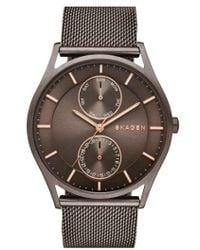 Skagen - 'holst' Multifunction Mesh Strap Watch - Lyst