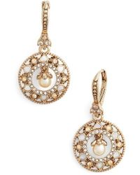 Marchesa - Round Drop Earrings - Lyst
