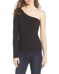 Project Social T - Second Skin One-shoulder Top - Lyst