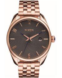 Nixon - 'bullet' Guilloche Dial Bracelet Watch - Lyst