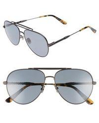 Bottega Veneta - 59m Polarized Aviator Sunglasses - - Lyst