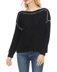 Vince Camuto - Contrast Stitch Sweater - Lyst