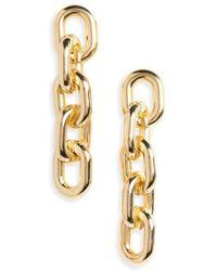 Cara - Big Chain Link Drop Earrings - Lyst