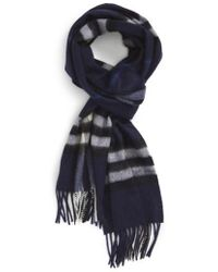 Burberry - 'giant Icon' Cashmere Scarf - Lyst