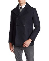 7 Diamonds - Seville Double Breasted Peacoat - Lyst