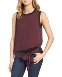 Trouvé - Sleeveless Tie Front Top - Lyst