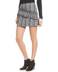 Moon River - Ruffle Tweed Skirt - Lyst