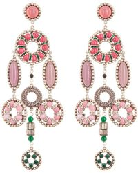 Marc Jacobs - Somewhere Jewelled Statement Dangle Clip-on Earrings - Lyst