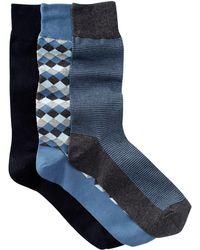 Cole Haan - Diamonds & Stripes Crew Socks - Pack Of 3 - Lyst