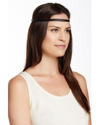 Ficcare - Braided Leather Headband - Lyst
