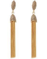 Vince Camuto - Cz Chain Tassel Earrings - Lyst