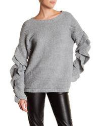 Oober Swank - Ruffle Sleeve Sweater - Lyst