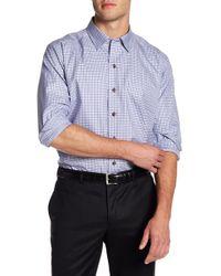 David Donahue - Plaid Print Regular Fit Shirt - Lyst